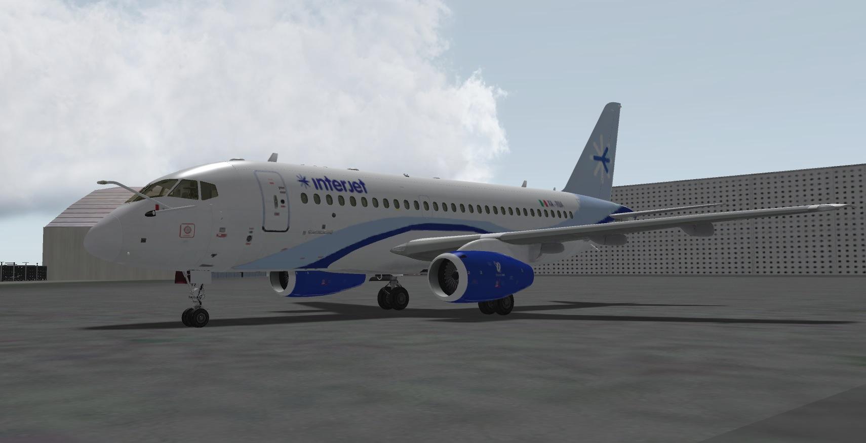 Interjet Livery for Sukhoi Superjet - Sukhoi 100 v5 skins