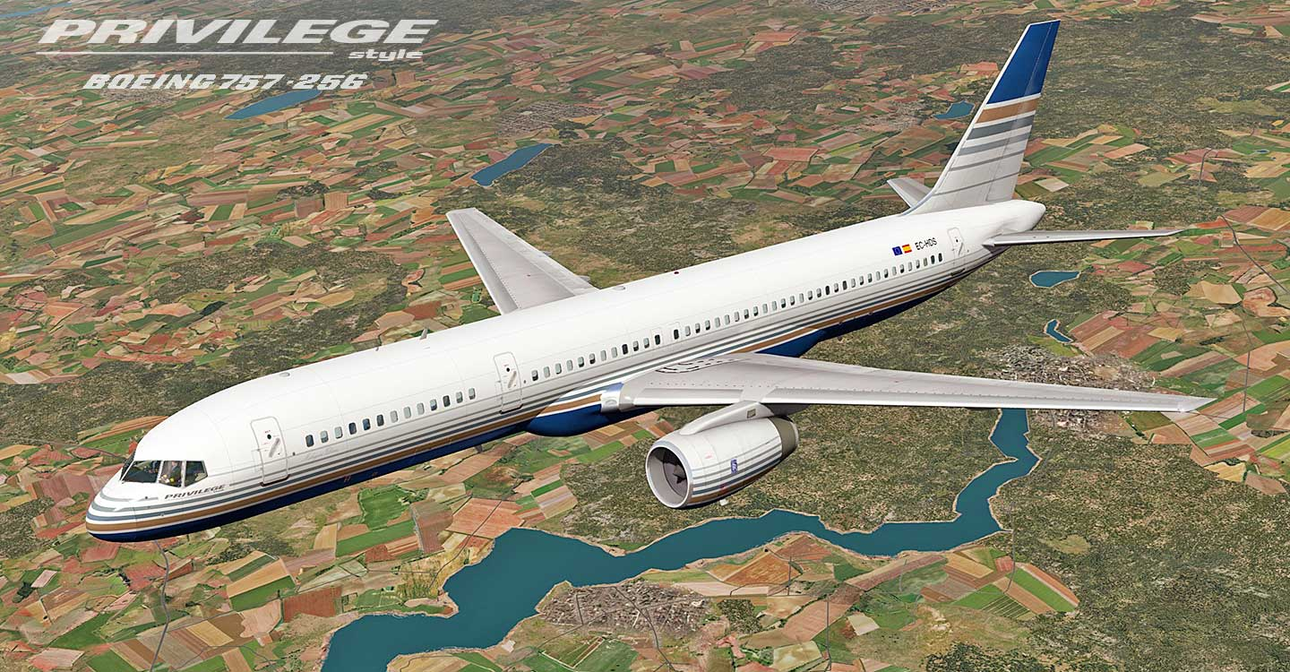 Boeing 757 Privilege Style livery for B757-200 professional