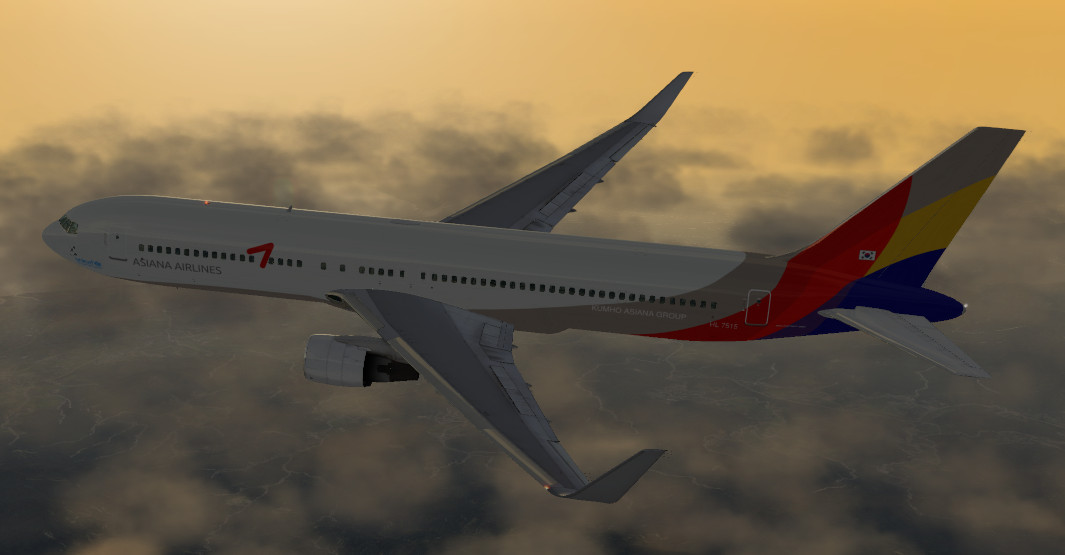 FF767-300 ER - Asiana Airlines - Aircraft Skins - Liveries - X-Plane