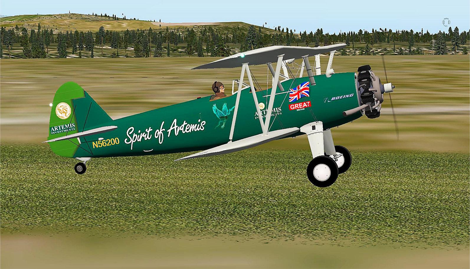 Boeing Stearman 75 Kaydet N56200 (Tracey Curtis Taylor) Repaint