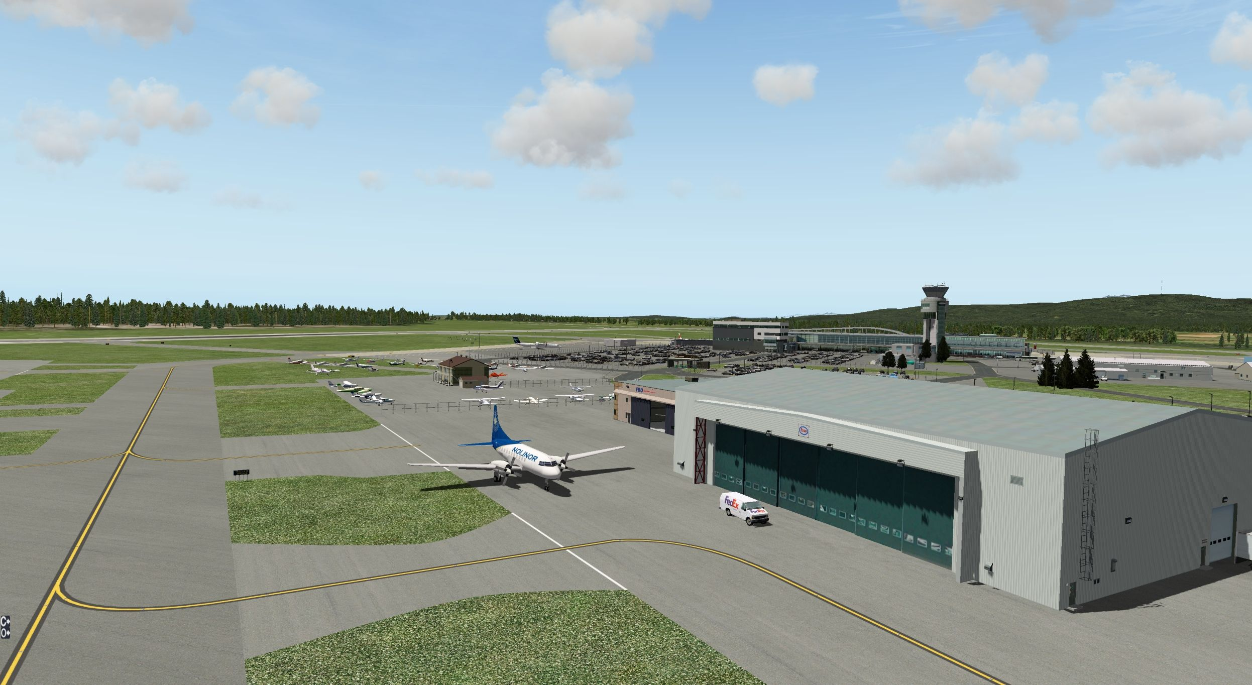 CYQB Quebec City Jean Lesage International Airport - Scenery