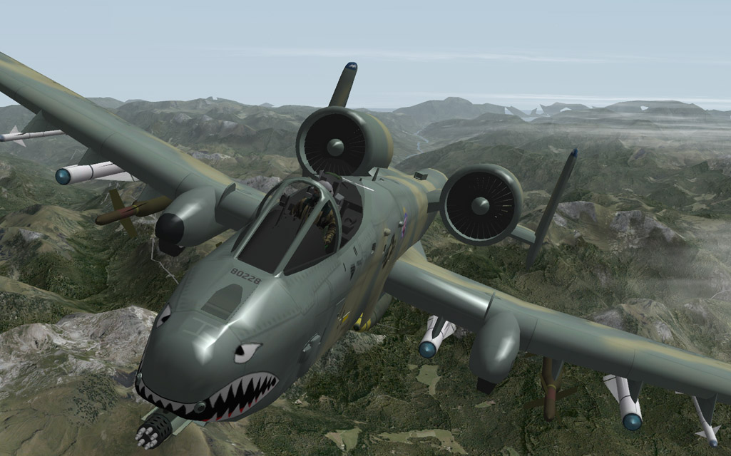A-10 Warthog with 3D cockpit - Military Fixed-Wing 1946 and after