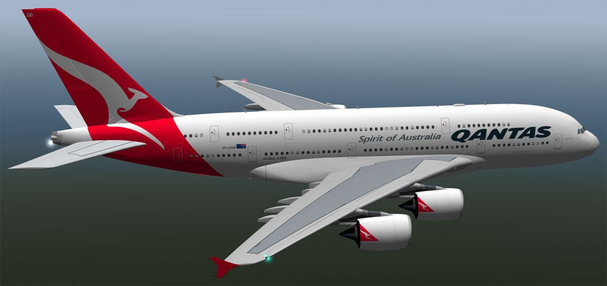 Airbus A380-842 Qantas - Payware Aircraft - X-Plane Org Forum
