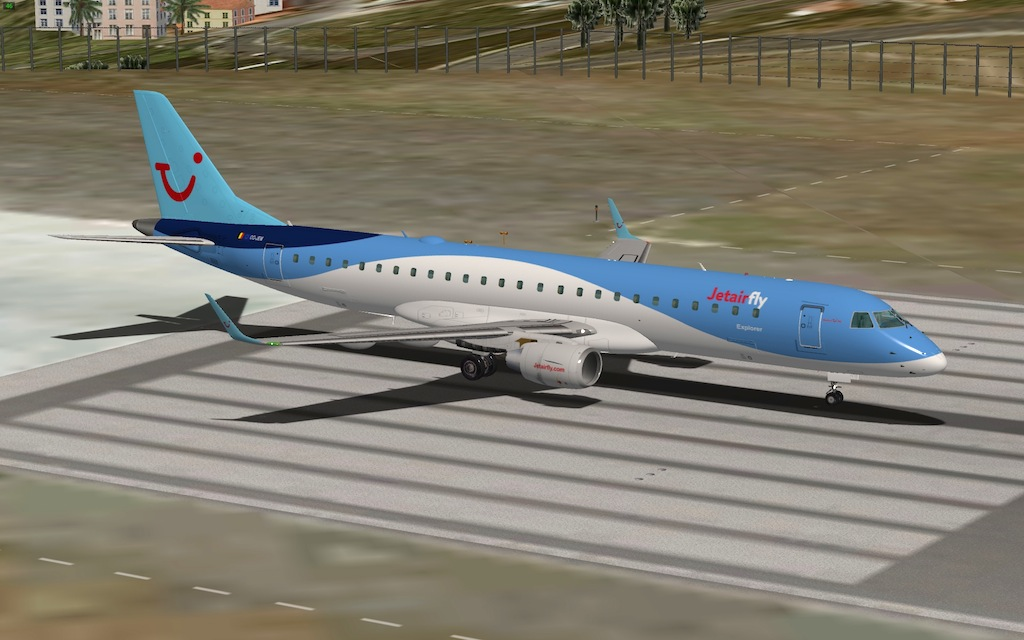 TUI JetairFly OO-JEM for Payware SSG E190 - Aircraft Skins