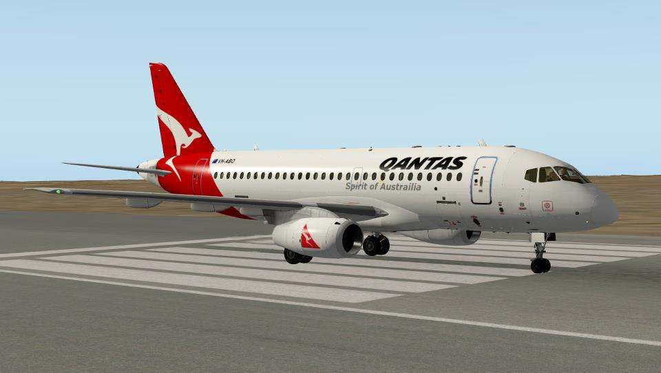 Qantas Airlines for Ramzzess' Sukhoi SUperjet 100 - Sukhoi 100 v5