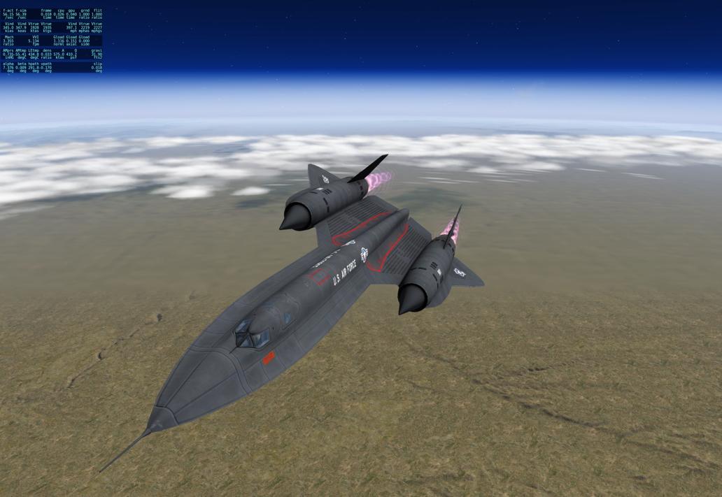 X-Plane Lockheed SR-71 modification - Military Fixed-Wing