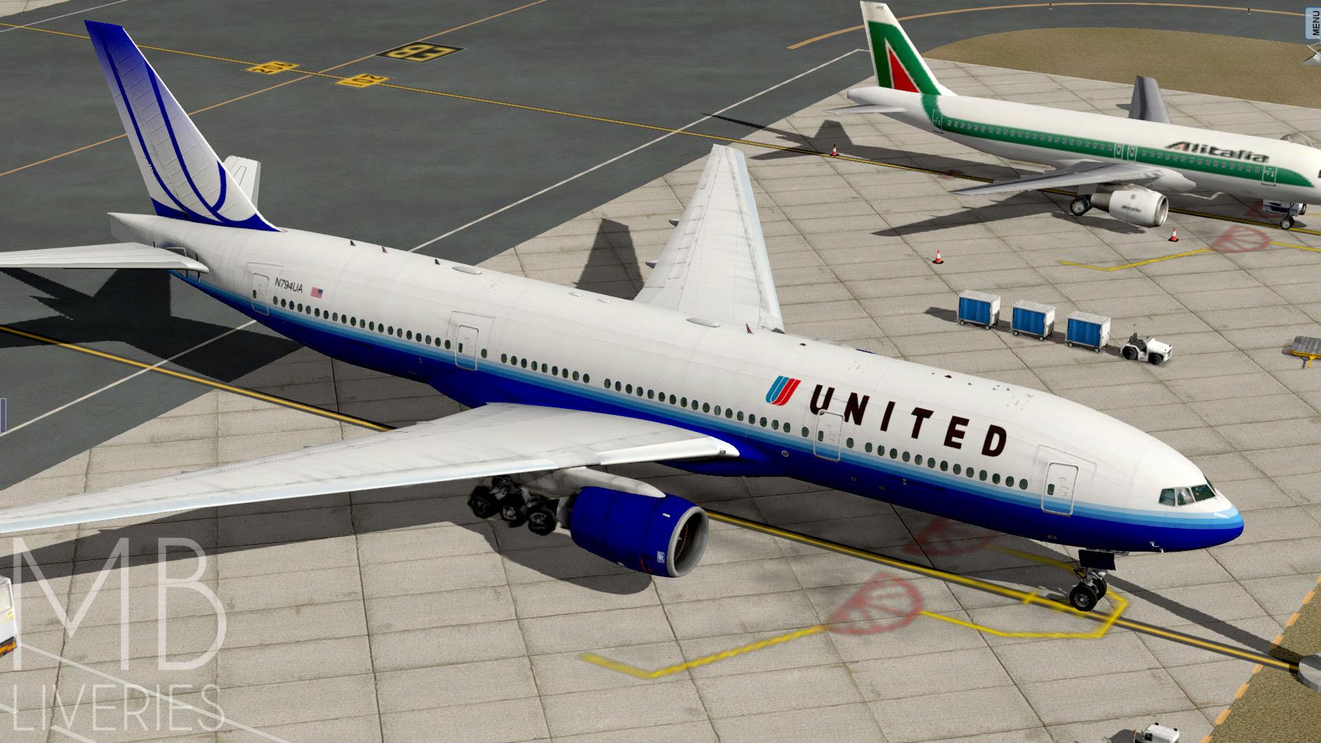 United Airlines (Blue Tulip) - Boeing 777-200ER/LR