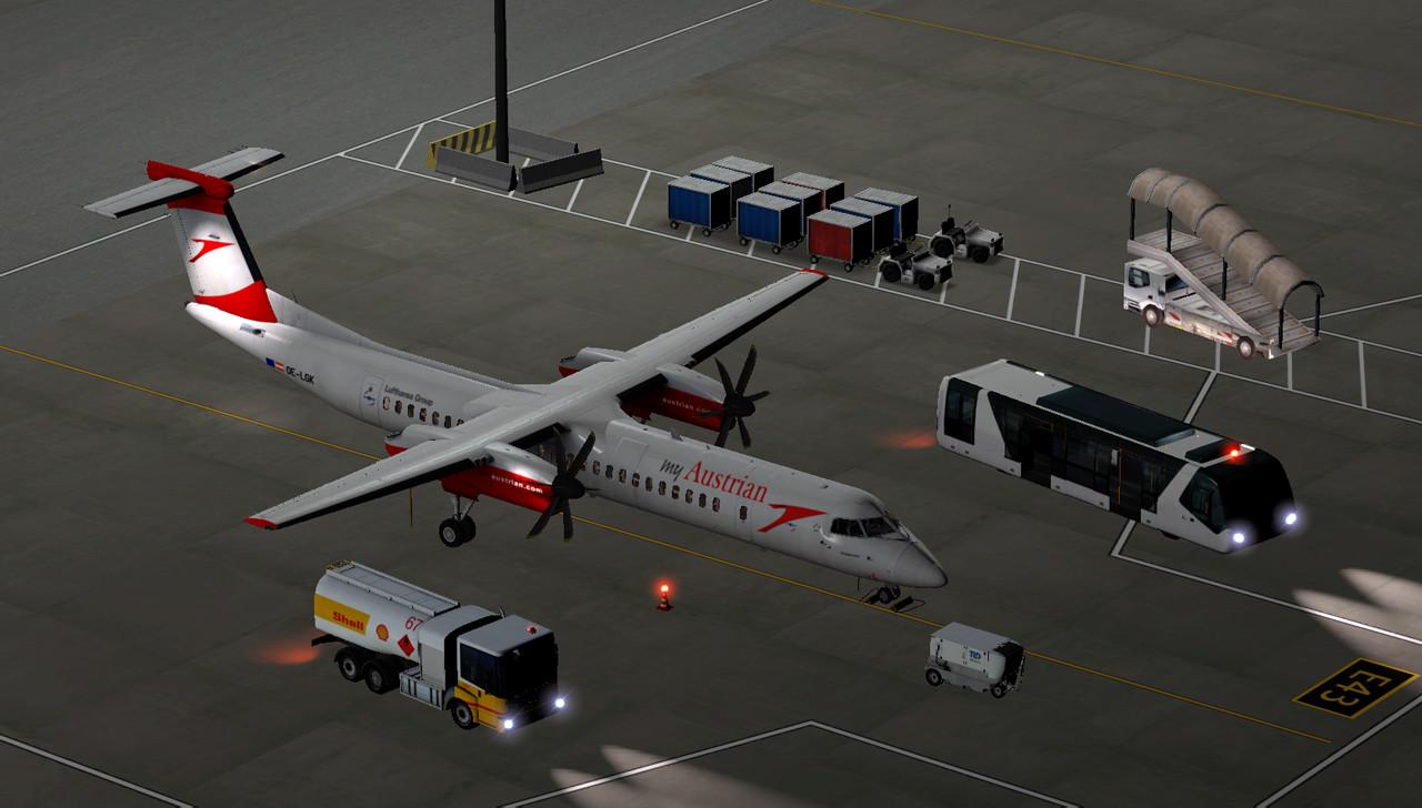 myAustrian livery for FlyJSim Dash 8 Q400 (High Res ) - Aircraft