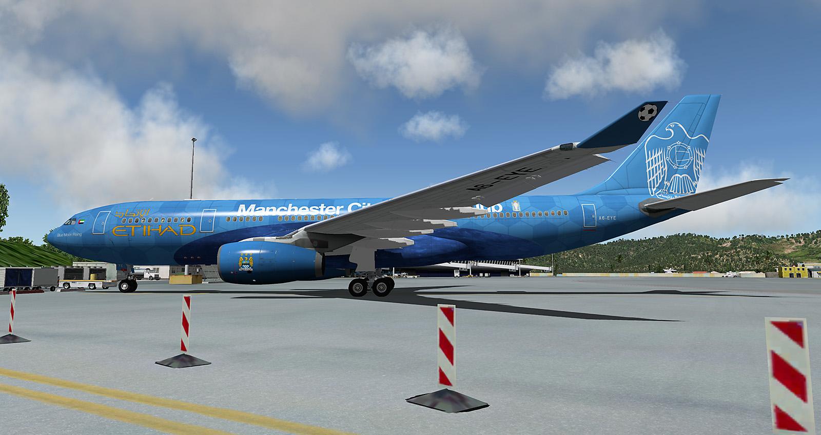 Jardesign A330 Etihad Blue Moon Rising A6-EYE - Aircraft