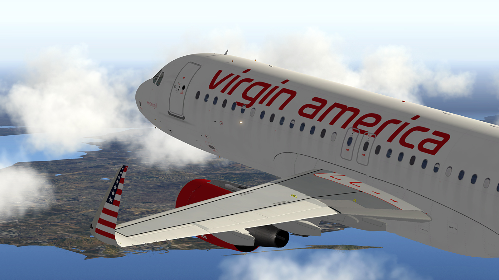 Virgin America A320 Sharklets livery (Peter Hager