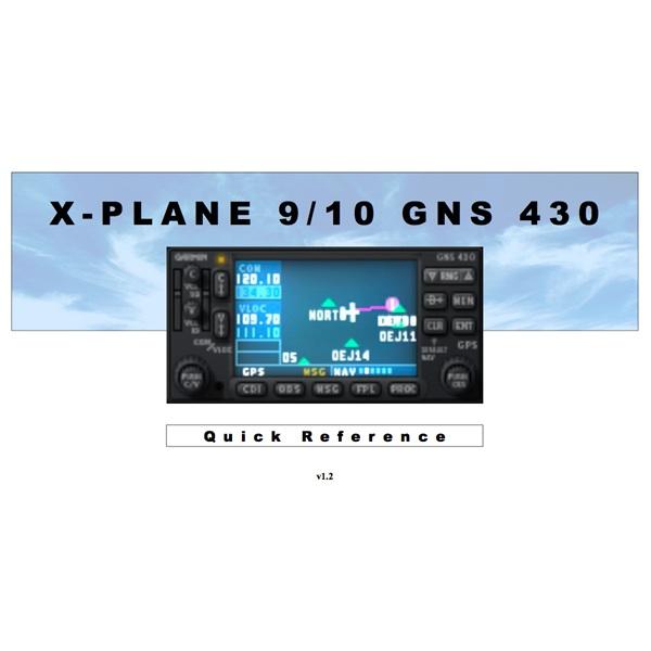 XP9/10's Garmin GNS 430 - Quick Reference - Tutorials - X-Plane Org