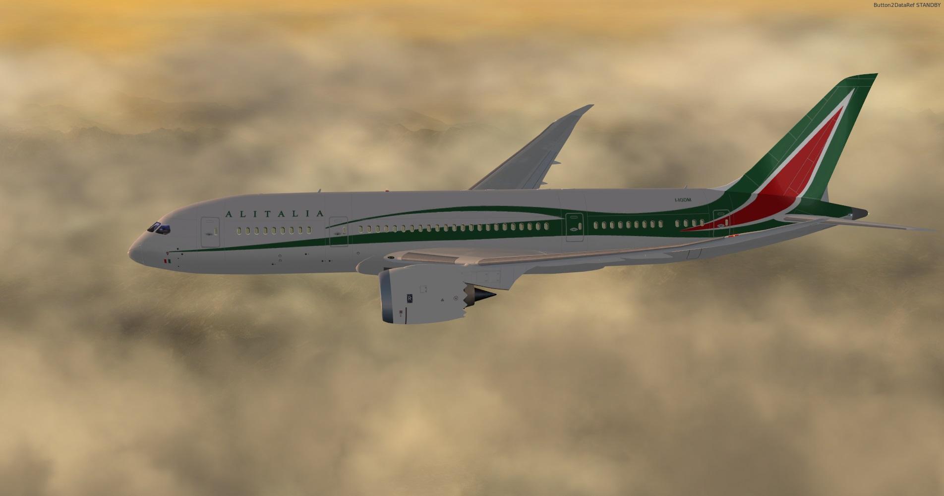 Alitalia 787 Dreamliner Livery - 787 Dreamliner Skins - X