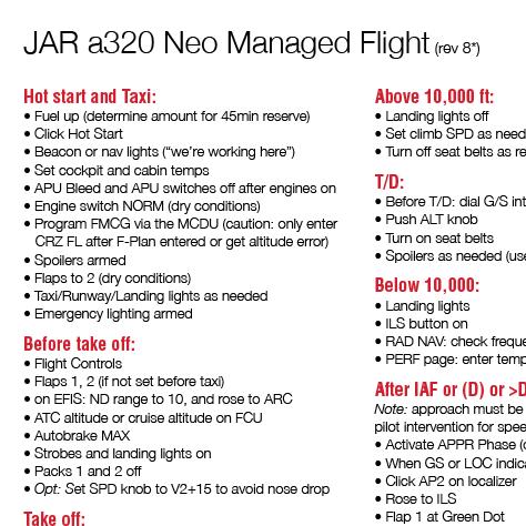 JAR a320 Neo checklist pdf - Tutorials - X-Plane Org Forum