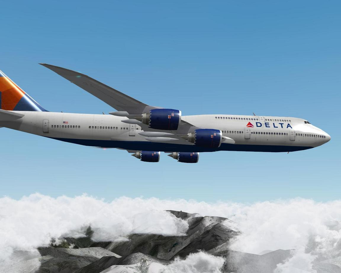 Delta for 747-8 Intercontinental - Aircraft Skins - Liveries
