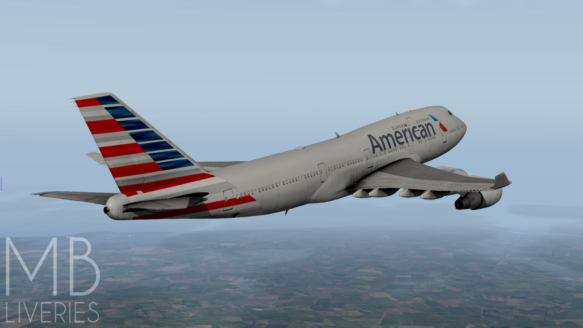 American Airlines (New) - Boeing 747-400 (default) - Aircraft Skins