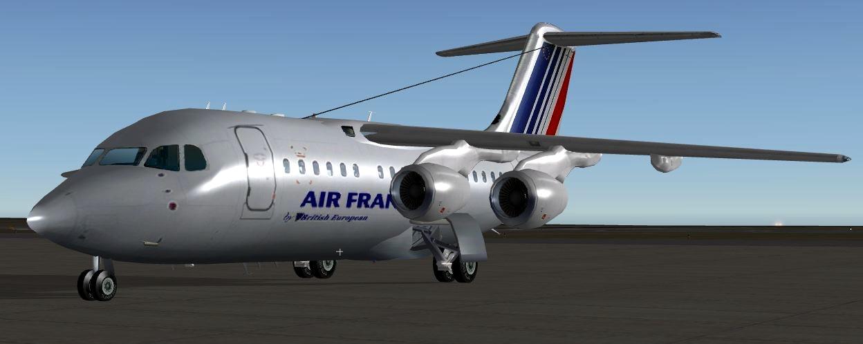 BAE 146 short to medium-range regional airline - V8 Heavy Metal Jets