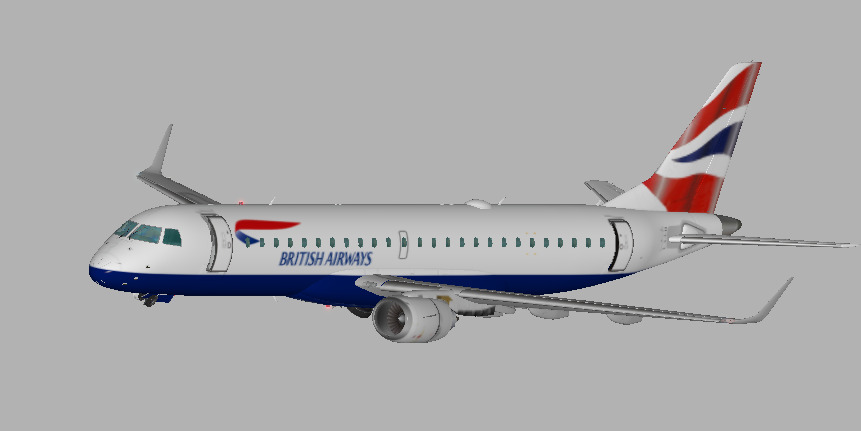 British Airways livery for SSG E190 - Aircraft Skins