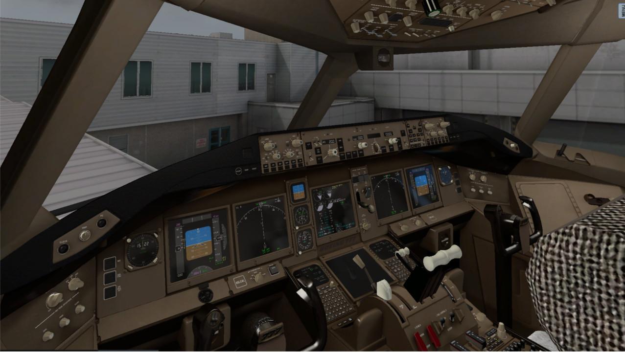 New cockpit texture for Flight Factor (Ramzzess) Boeing 777
