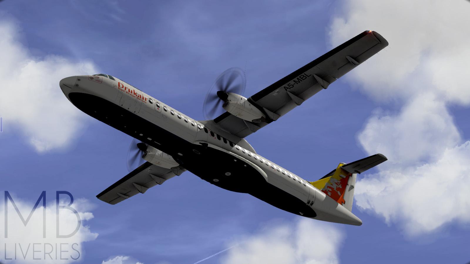 Druk Air - ATR72-500 (Aerosoft) - Aircraft Skins - Liveries - X
