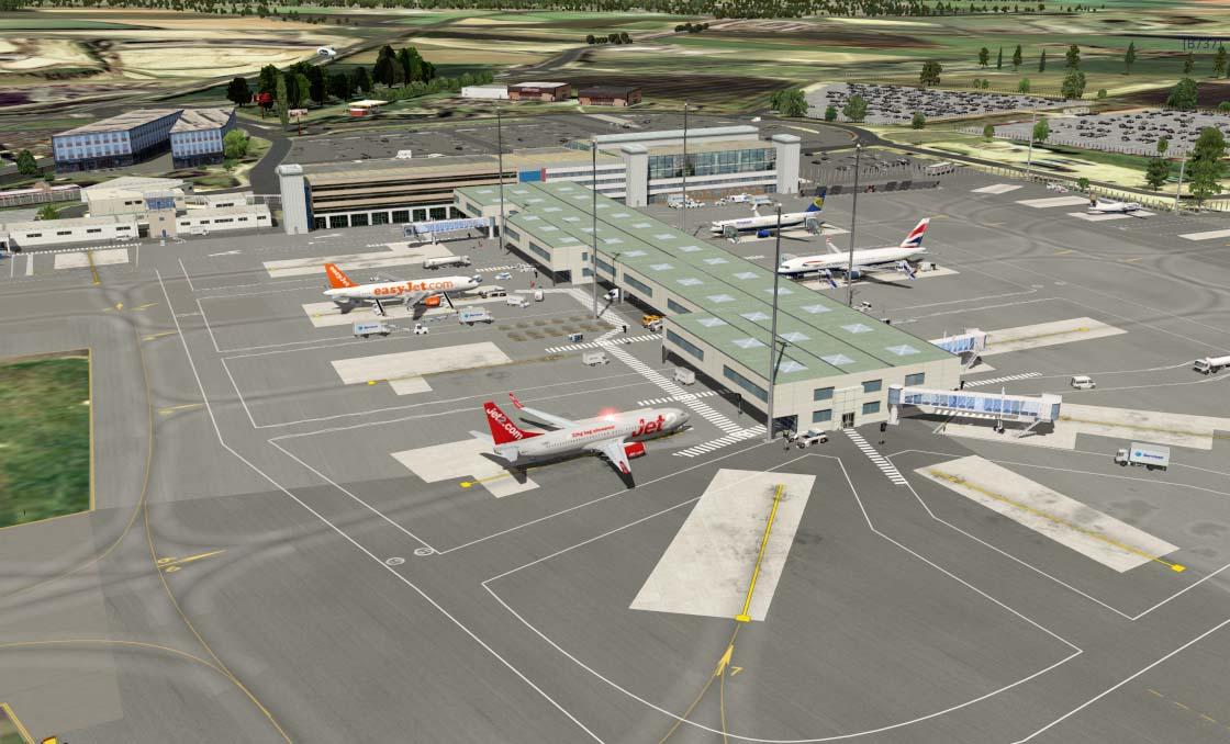 EGNT Newcastle Airport - Scenery Packages (v11,v 10, v9) - X