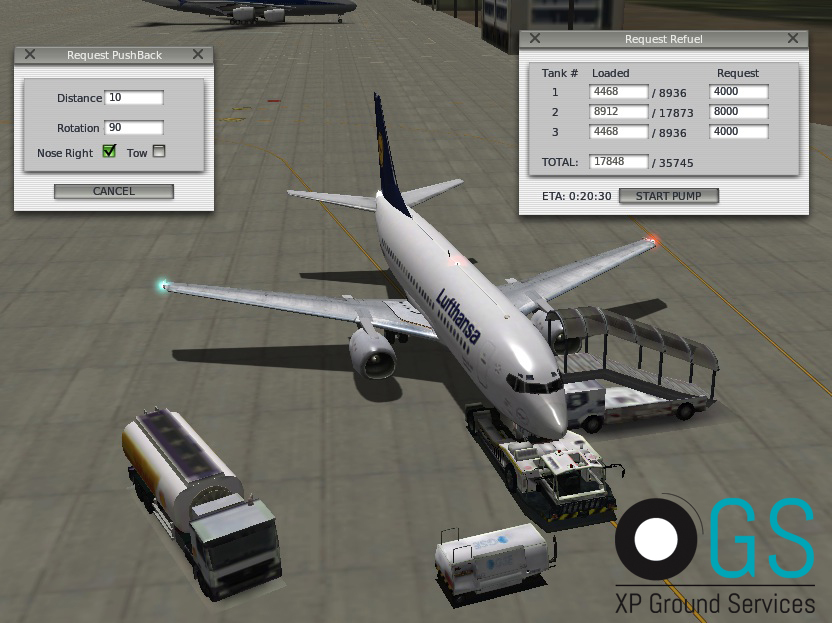 Ground Services - Pushback, Refueling - Utilities - X-Plane