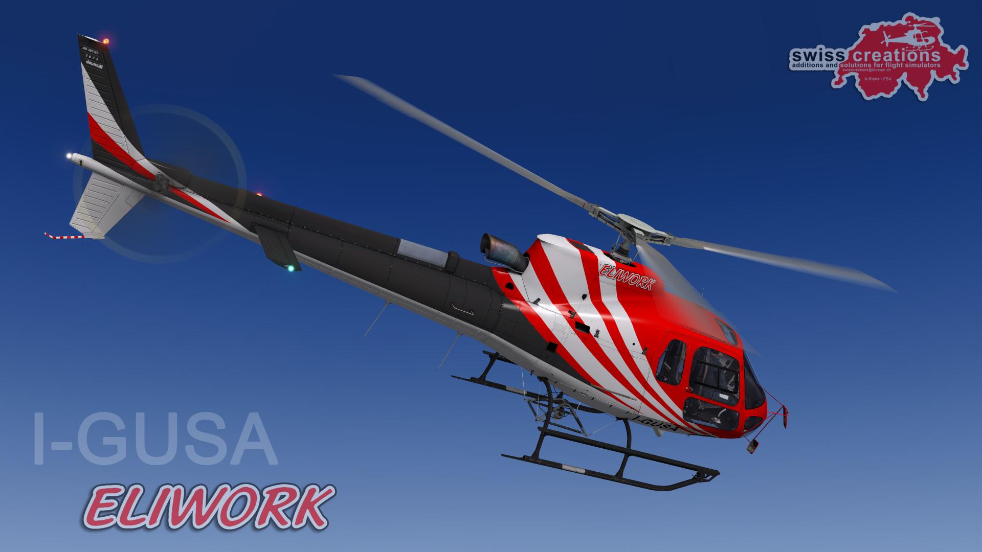 Elicottero 350 : Swisscreations as 350 b3 eliwork fleet repaint as350 by