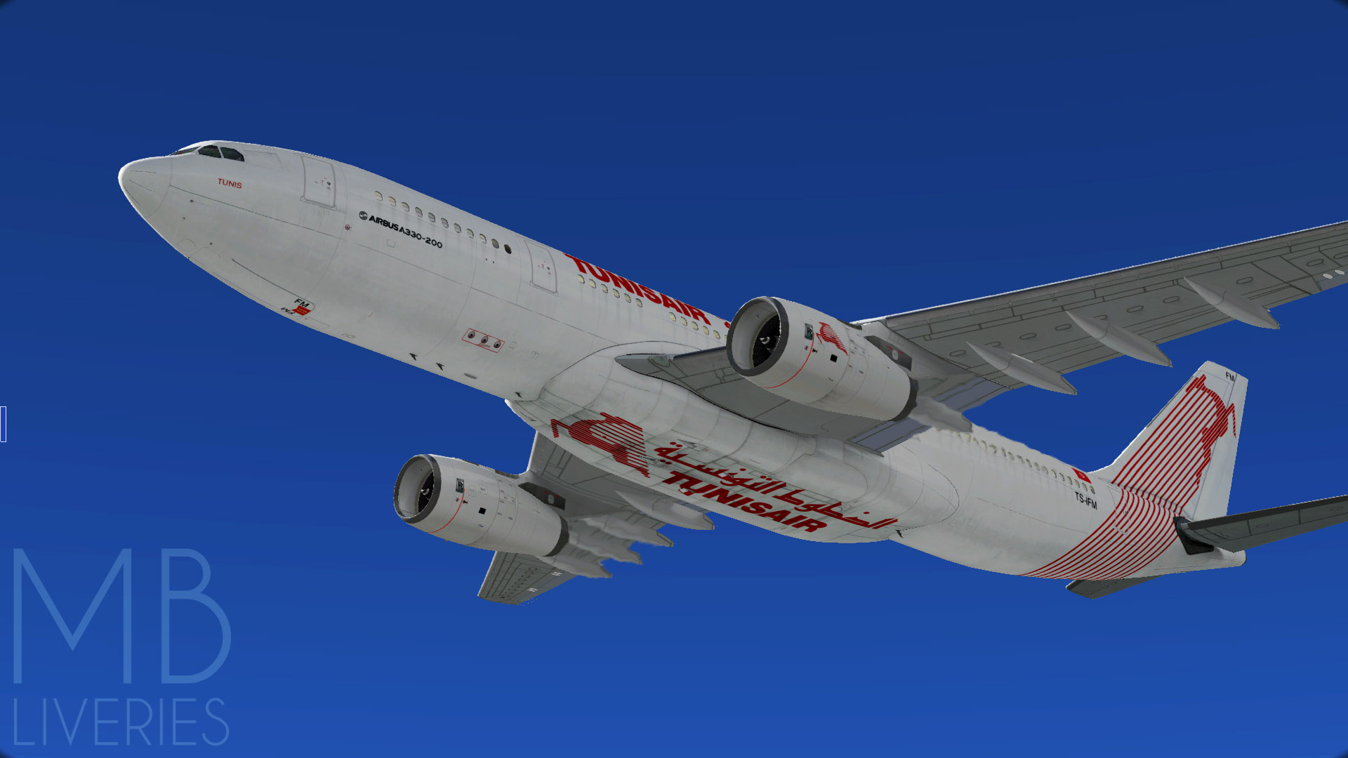 Tunisair - Airbus A330-200 JarDesin - Aircraft Skins - Liveries - X