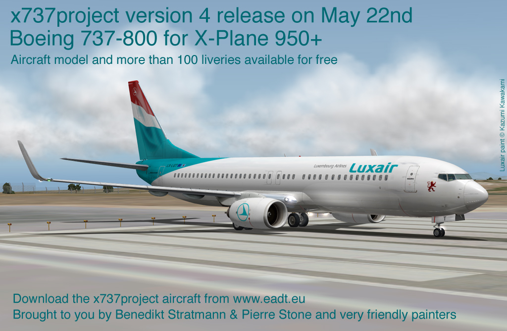 Boeing 737-800 and BBJ2 (x737project version 4) - Civilian Fixed