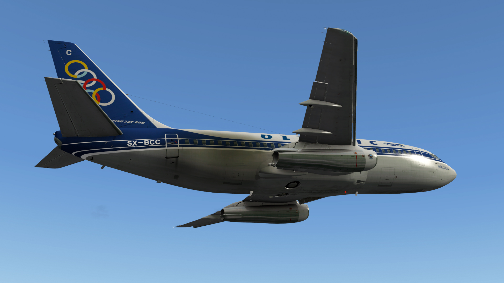 Olympic Airways 737-200 - 732 TwinJet Paints - X-Plane Org Forum