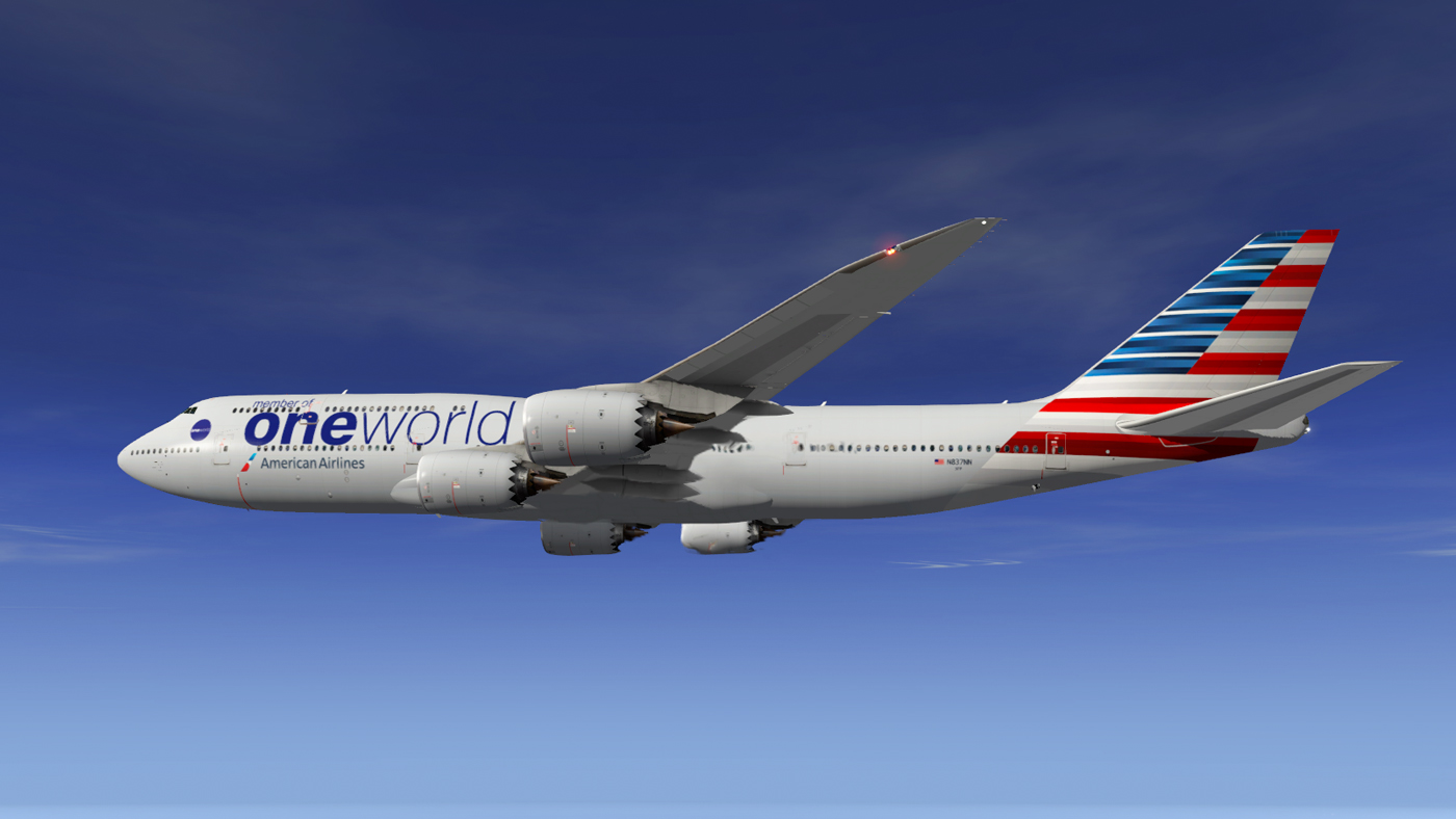 SSG 747-8i - American Airlines - One World - Aircraft Skins