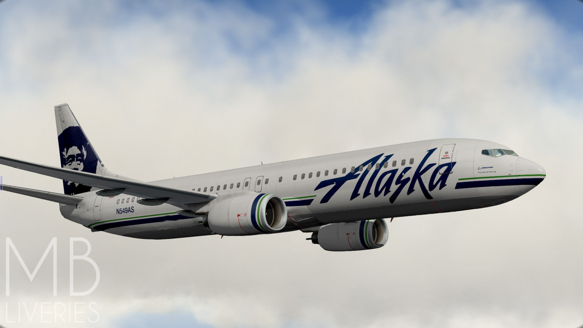 Alaska Airlines (New) - Boeing 737-800 EADT - Aircraft Skins