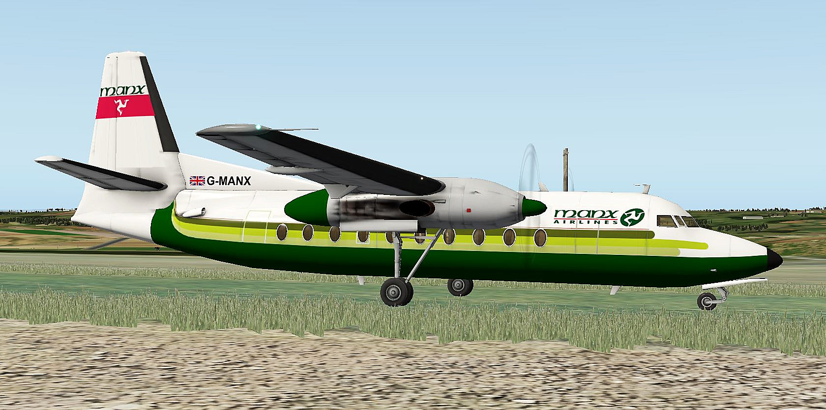 Fokker F26 600 Manx Airlines Repaint Aircraft Skins Liveries X Plane Org Forum