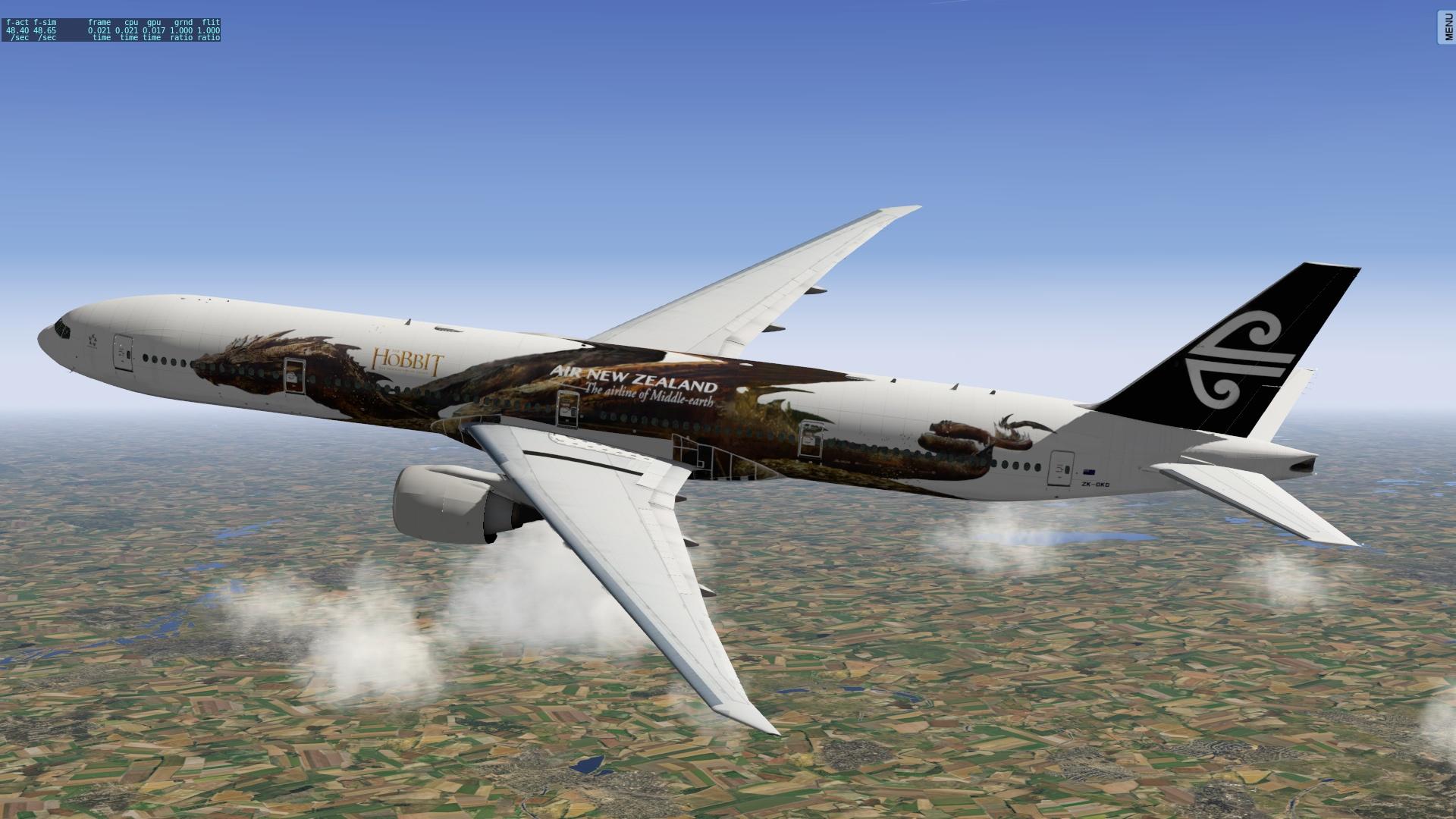 Air New Zealand BER ZKOKO Smaug Aircraft Skins
