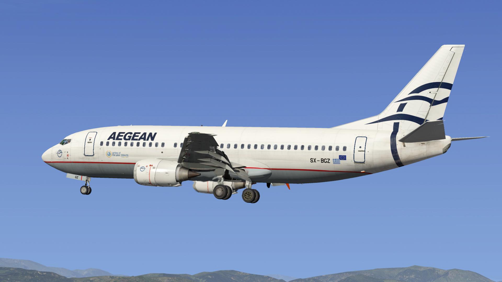 Aegean Airlines 737-SX_BGZ, IXEG 737 Classic - Aircraft