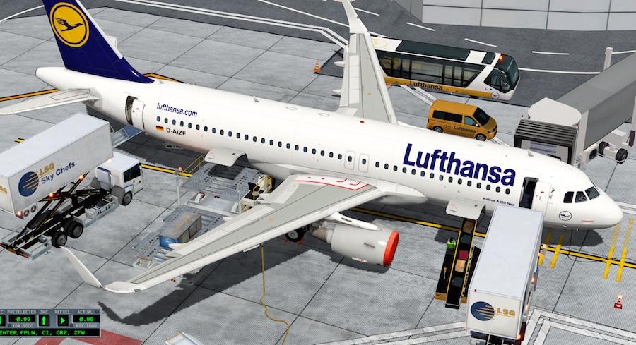 JARDesign Ground Handling - Lufthansa Airlines - X-Plane