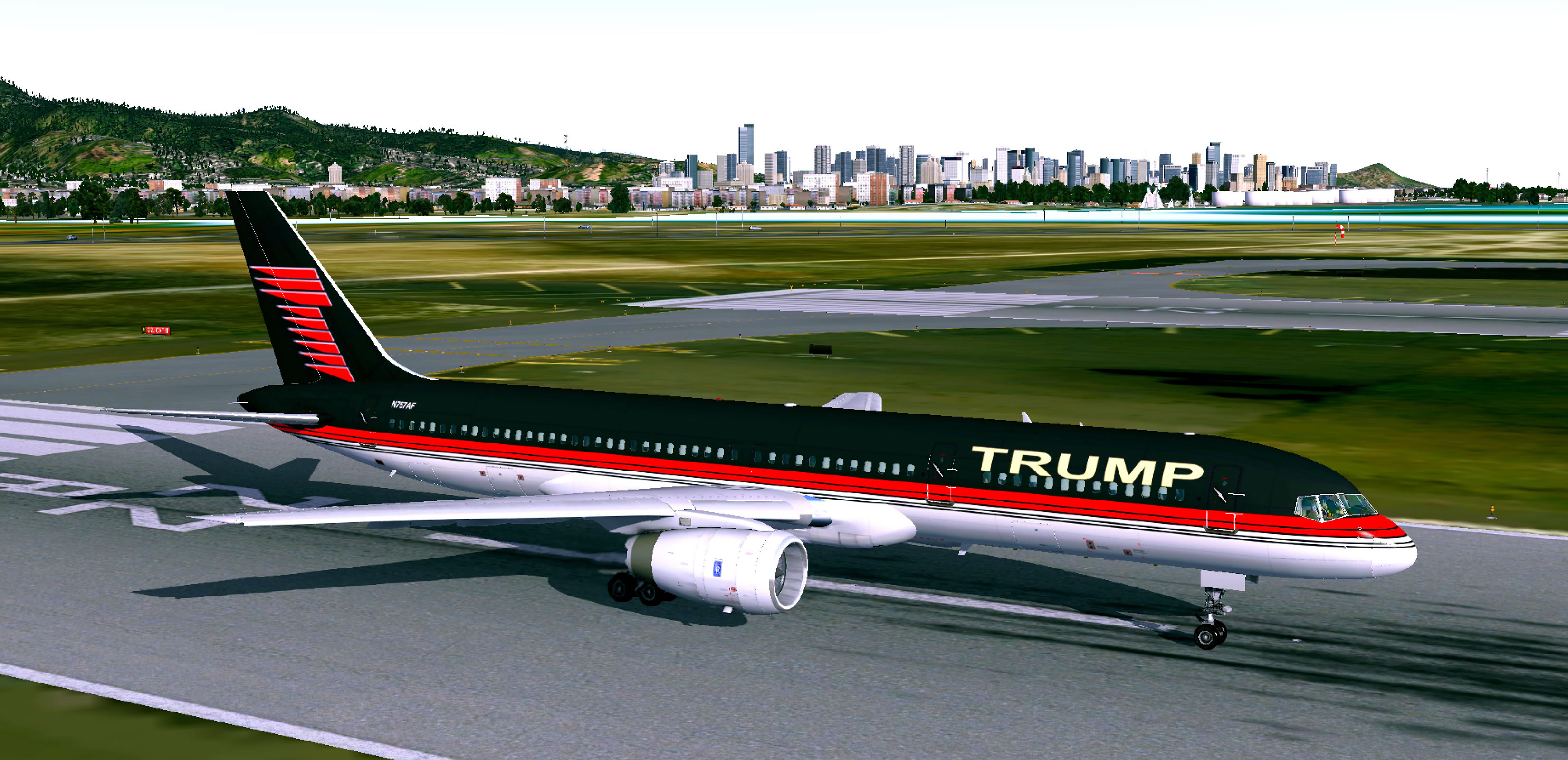 Boeing 757 Trump Livery - Aircraft Skins - Liveries - X