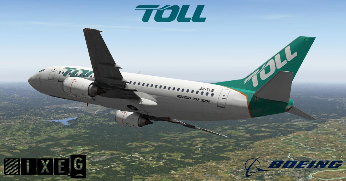 Toll Freight Boeing 737-3S1 'ZK-TLE' IXEG - Aircraft Skins