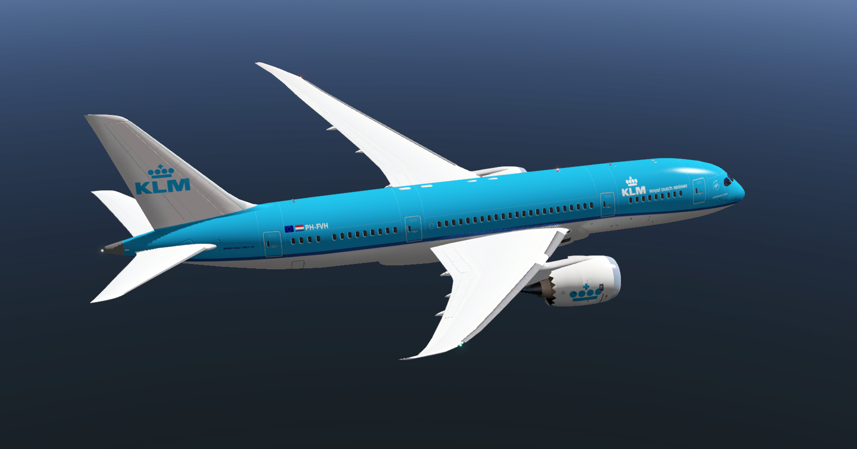 KLM for 787 Dreamliner by VMAX - 787 Dreamliner Skins - X