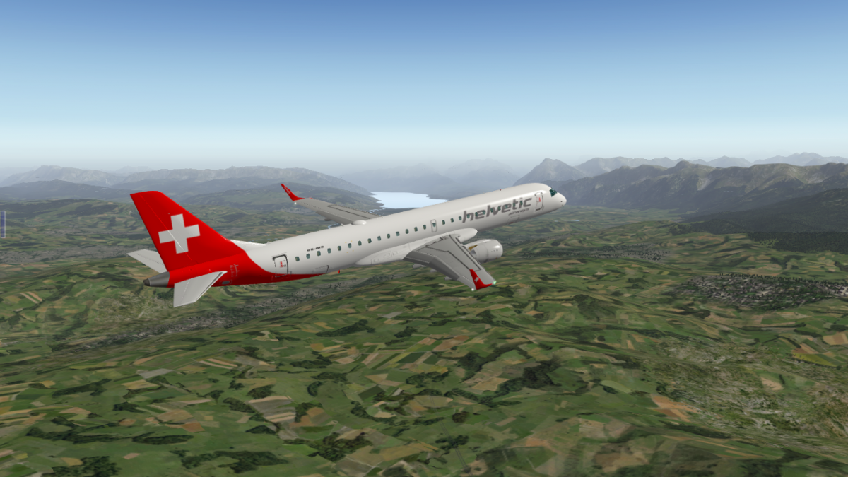 Helvetic Airways for SSG E-190LR - Aircraft Skins - Liveries - X