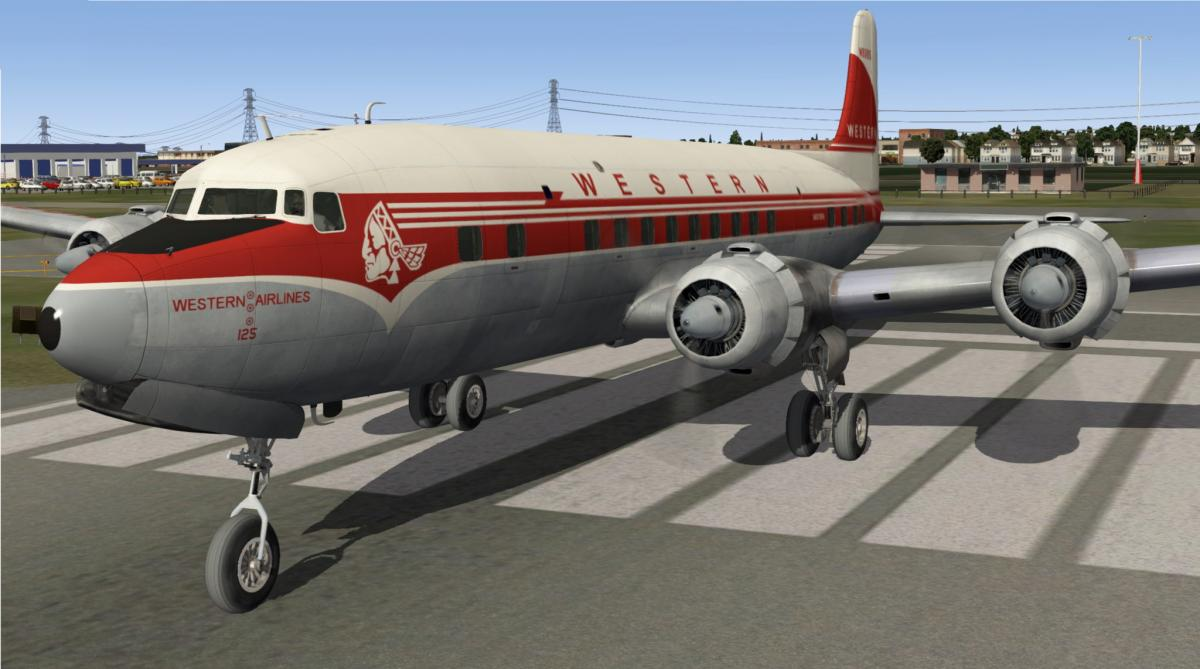 Western Airlines for PMDG's DC-6 - Aircraft Skins - Liveries