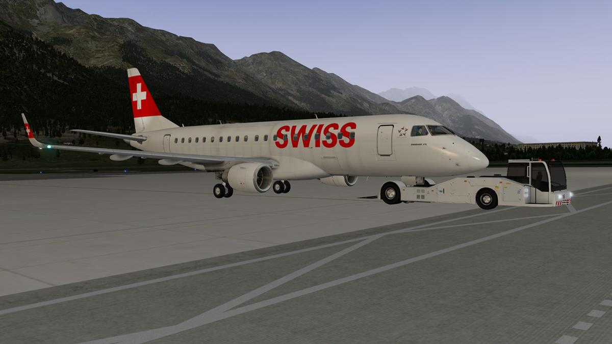 X-Crafts Embraer E-175 v2 Swiss (fictional) - Aircraft Skins
