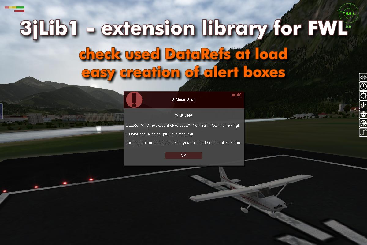 3jLib1 - UI extension library for FlyWithLua - Utilities - X-Plane