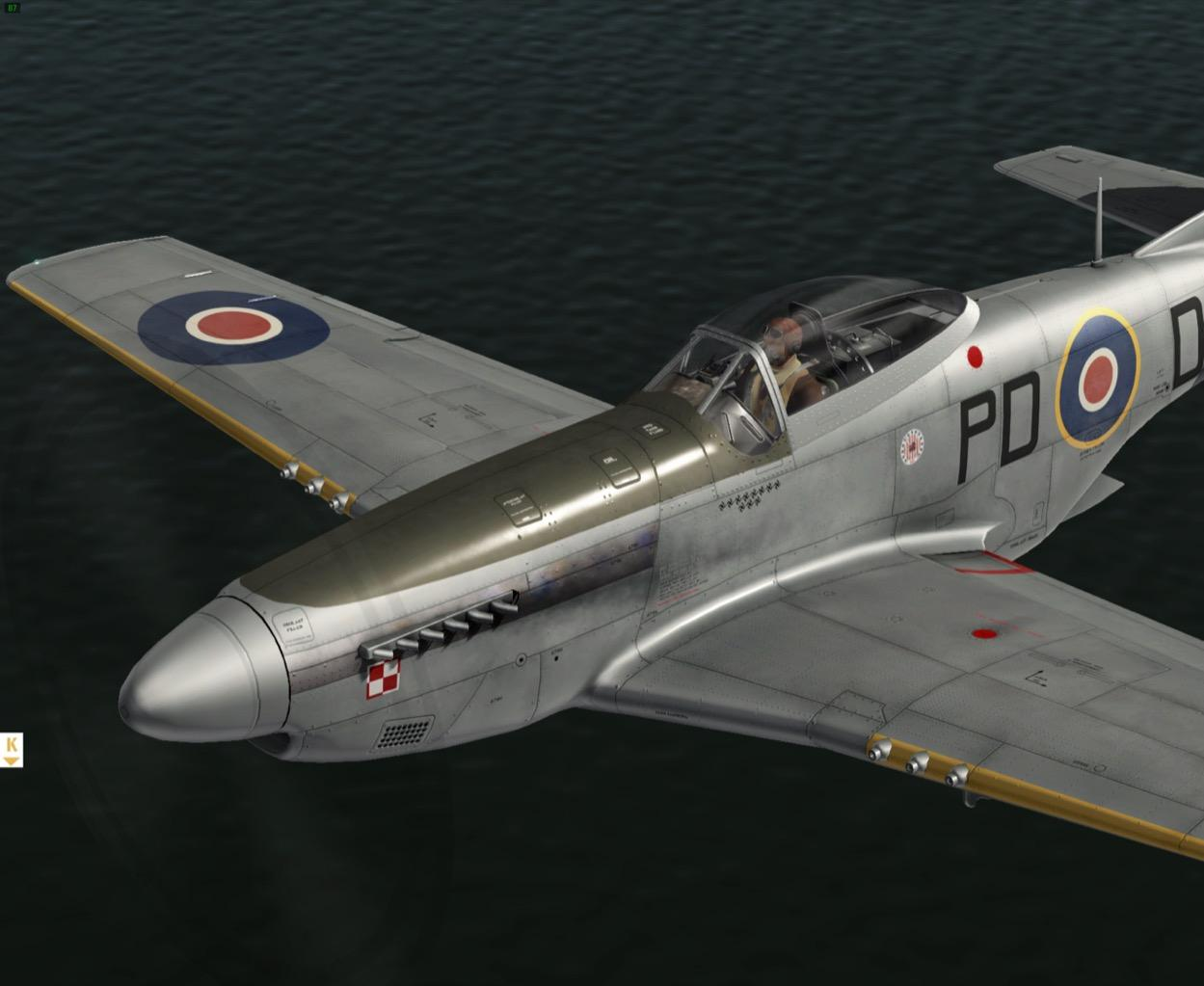 303sqn RAF paint PD-D for P-51D by Khamsin - P51 Mustang by