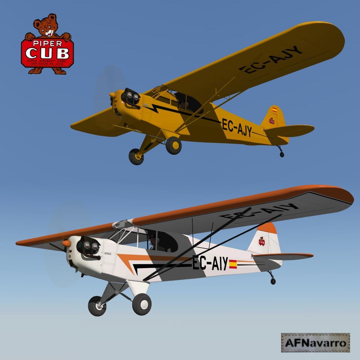 Liveries EC-AJY & EC-AIY for Piper J3 Cub - Aircraft Skins