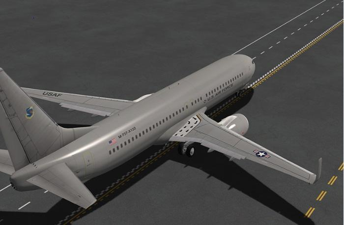U S  Air Force AT (MILITARY) for EADT's x737 (HD) - Aircraft