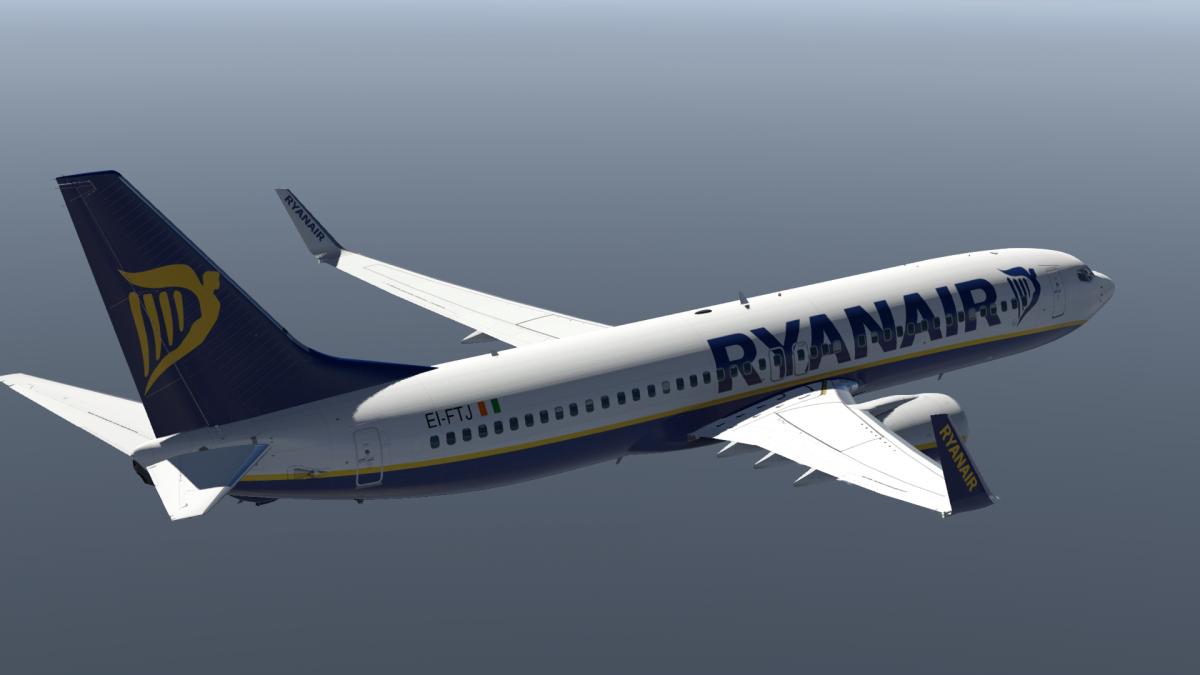 Ryanair - Boeing 737-800 (Default) XP11 - Aircraft Skins - Liveries