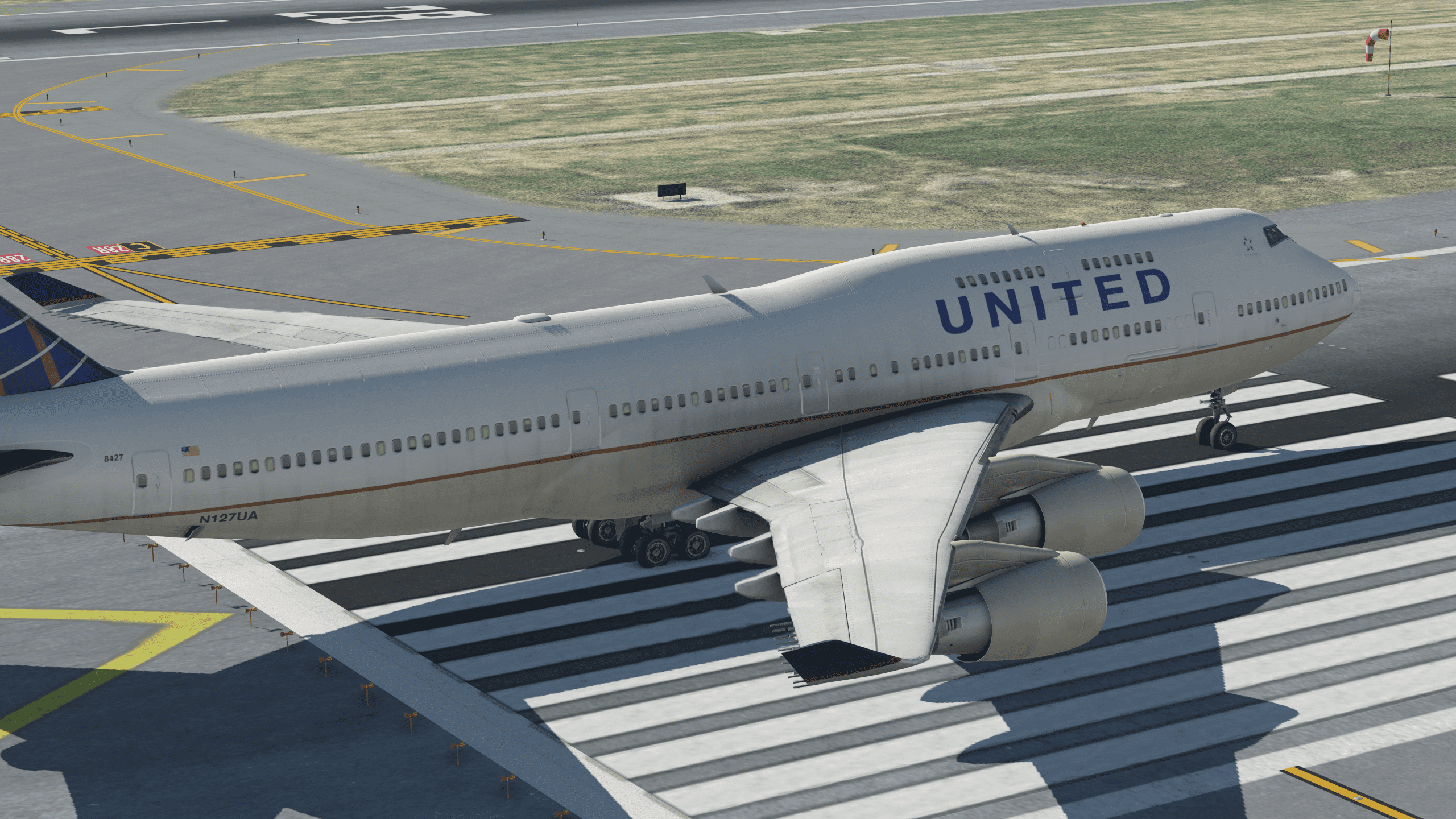 United (Current) 747 (Default XP11) - Aircraft Skins