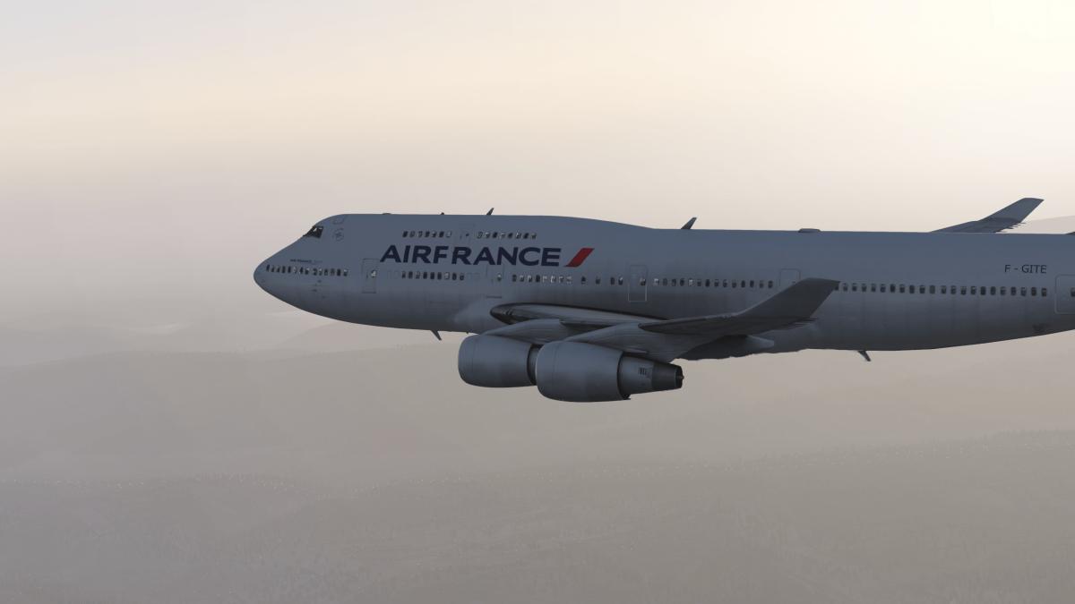 Air France 747 (Default XP11) - Aircraft Skins - Liveries