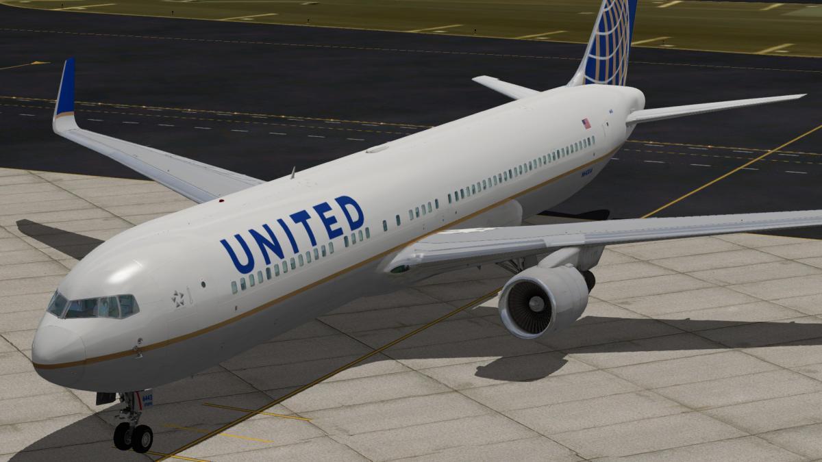 Flight Factor 767-300 United - N643UA 2 0 - Aircraft Skins