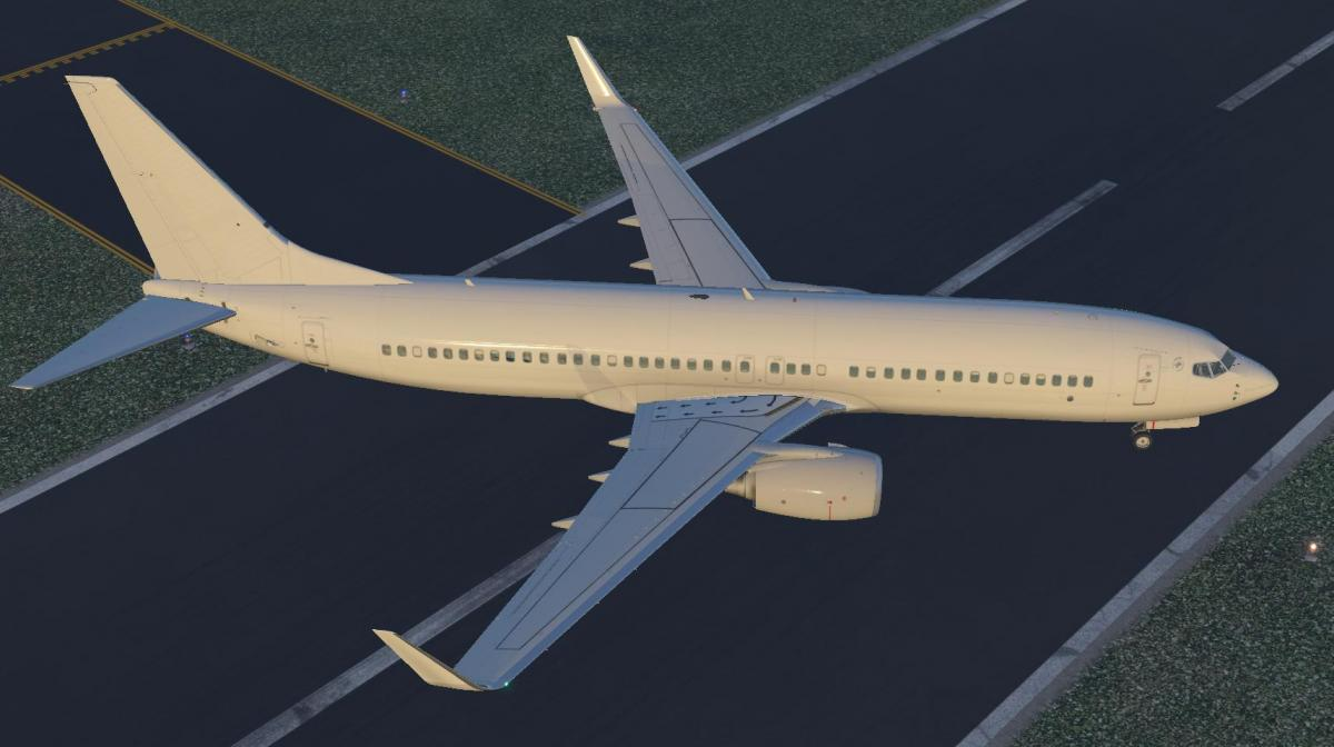 Boeing 737-800 Default White Paint - Aircraft Skins